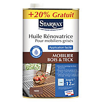 Huile de rénovation teck Starwax 750ML + 20%
