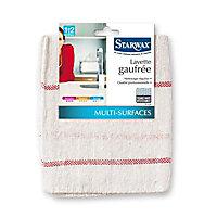 2 lavettes gaufrées multi-surfaces