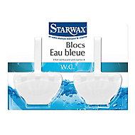 2 blocs cuvette Eau bleue 40 g