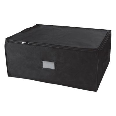Housse de rangement noire 210L CompressPack - Capacité maximale (L) : 210 - Référence : RAN4422 - Dimensions du produit (cm) : l.65 x P.50 x H.27 - Taux de compression : 75% - Matière extérieure : Polypropylène - Coloris extérieur : Noire - Matière intéri