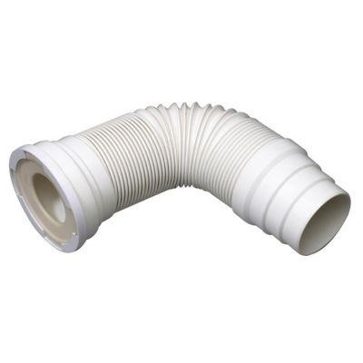 Pipe WC articulée extensible - Forme : Extensible - Matière : Plastique - Diamètre du raccord d'évacuation : 100 - Dimensions du produit (cm) : l. 13,5 x P. 33 x H. 13,5 - Caractéristique complémentaire différenciante : Extensible de 260 à 650 mm - Sortie