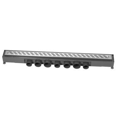 Caniveau grille traits Express'Eau Wirquin 665x43 mm. Solution complète pour douche à l'italienne. Caractéristiques techniques de ce caniveau Express'Eau : - Type : Grille design. Matière : Design inox brossé. Motif : Traits. Dimensions : 665 x 43 mm. Pie