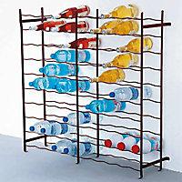 Casier 100 bouteilles en métal coloris bordeaux
