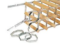 5 clips de raccord métal galvanisé