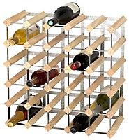 Casier 30 bouteilles en bois et métal galvanisé