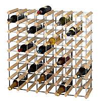 Casier 72 bouteilles en bois et métal galvanisé