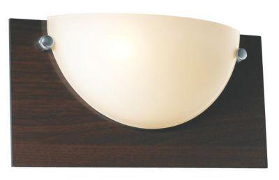 Applique Bisso Bois foncé H.9,6cm 60W - Dimensions : H 9,6 cm x L 16 cm x P 32 cm - Matière : En verre et en bois - Type de culot + Puissance* maxi. : E27/60 Watts maximum - Ampoule fournie : Non - Monture fournie : Oui - Coloris : Bois foncé - Garantie :