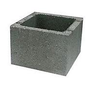 Elément de pilier 28 x 28 cm gris