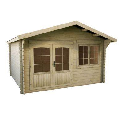 Vous rêvez d'une cabane au fond du jardin ? L'abri de jardin en bois Lahti a tout pour plaire. Son look chalet, associé à ses larges ouvertures lumineuses, et son système de lames anti-tempête en font un abri robuste et sécurisé. Idéal pour aménager un es