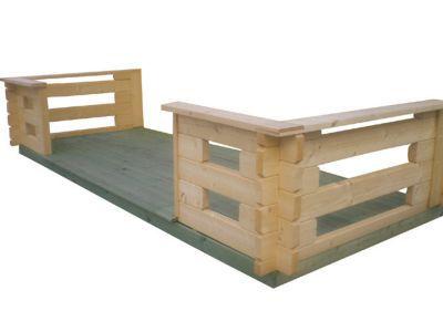 Terrasse pour abri de jardin bois LUOMAN Lahti