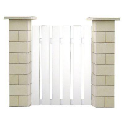 portillon pvc normandie blanc 100 x cm castorama. Black Bedroom Furniture Sets. Home Design Ideas
