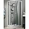 Porte de douche circulaire coulissante profilés blancs COOKE & LEWIS Columbia 90 x 90 x 180 cm