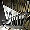 Escalier 1/4 tournant bois l.80 cm 13 marches sapin rampe à droite