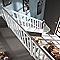 Escalier 1/4 tournant bois l.80 cm 13 marches sapin rampe à gauche