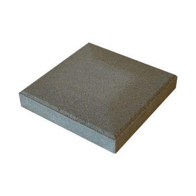 chapeau de pilier plat 25 x 25 cm gris castorama. Black Bedroom Furniture Sets. Home Design Ideas