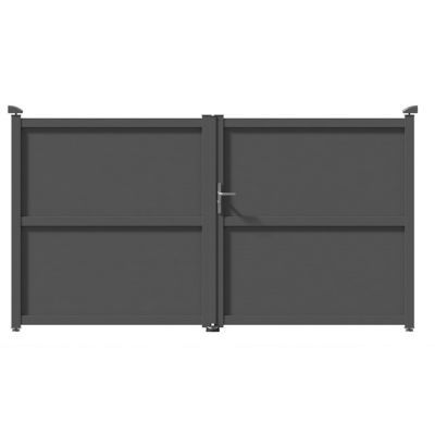 portail aluminuim jardimat tours gris antique 350 x cm castorama. Black Bedroom Furniture Sets. Home Design Ideas