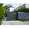Portail Jardimat coulissant aluminium Auteuil gris 300 x h.156 cm