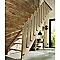 Escalier droit bois l.82 cm 14 marches chêne rampe à droite