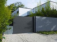Portail Jardimat coulissant aluminium Auteuil gris 400 x h.156 cm