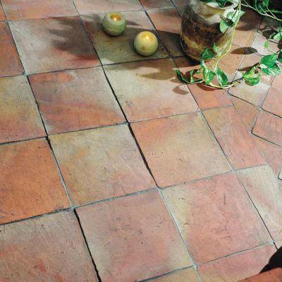carrelage sol terre cuite 20 x 20 cm manuelle vendu au carton castorama. Black Bedroom Furniture Sets. Home Design Ideas