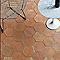 Carrelage sol terre cuite 20 x 20 cm Hexagonale  (vendu au carton)
