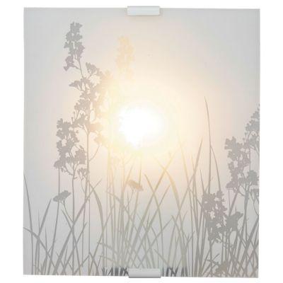 Applique Florale Blanc H.25cm 60W - Dimensions : H 25 cm x L 22 cm x P 10 cm - Matière : En verre - Type de culot + Puissance* maxi : E27/60 Watts maximum - Ampoule fournie : Non - Monture fournie : Oui - Coloris : Blanc - Garantie : 5 ans -
