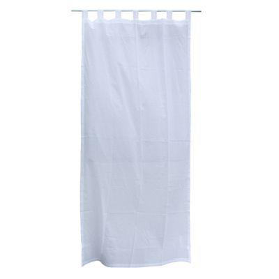 Voilage Basic Blanc 110 x 240 cm - Occultant : Non - Matière : En coton - Dimensions : L 110 cm x H 240 cm - Coloris : Blanc - Finition : Pattes - Ce rideau est à pattes.