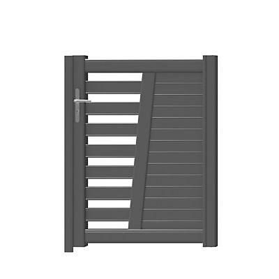 Portillon Jardimat Aluminium Carco Gris Antique 100 X H 130 Cm Castorama