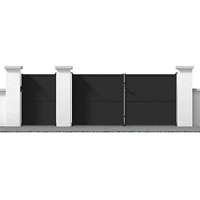 Portail Fer Lys Noir 300 X H 150 Cm Castorama