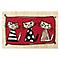 Paillasson coco 45 x 75 cm 3 chats