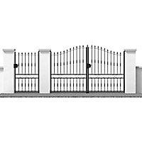 Portail Jardimat fer Chaprais noir - 300 x h.165/200 cm