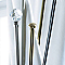 Ensemble barre à rideaux extensible COLOURS Tusli doré vieilli 120/210 cm