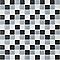 Mosaïque blanc/gris/noir 30 x 30 cm