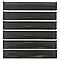 Listel noir 15 x 15 cm Constal