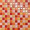 Mosaïque verre orange 2,5 x 2,5 cm