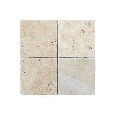 Carrelage mur beige effet marbre 20 x 20 cm Travertin (vendu au ...