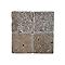 Carrelage mur marron effet marbre 20 x 20 cm Travertin (vendu au carton)