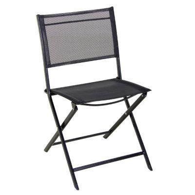 Chaise De Jardin Saba Noire Pliante