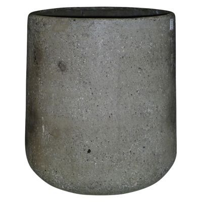 Pot rond composite gris Ø51 x h.53 cm