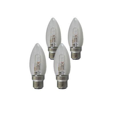 4 ampoules halog nes b22 flamme 28w 36w blanc chaud for Ampoule castorama