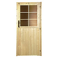 Volet extérieur de porte pour abri de jardin bois Luoman New Vaasa