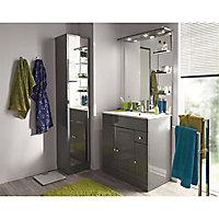 Colonne de salle de bains gris Cooke & Lewis Atrato 35 cm