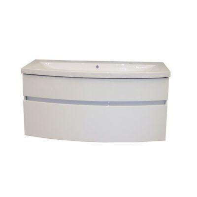 Meuble sous vasque blanc brillant COOKE & LEWIS Nile 90 cm