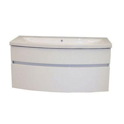 Meuble sous vasque blanc brillant COOKE & LEWIS Nile 120 cm