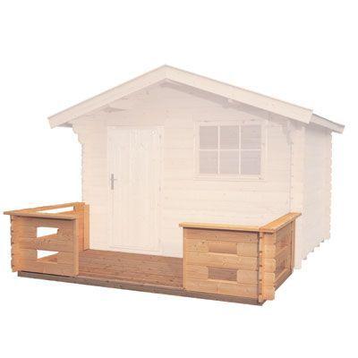 Terrasse pour abri de jardin bois LUOMAN Askola