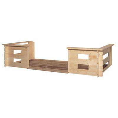 Terrasse pour abri de jardin bois LUOMAN Ivalo