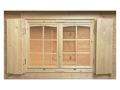 Volets de fenêtre pour abri de jardin bois Luoman 119 x 87cm | Castorama