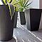 Vase haut rond polystone Doz noir Ø37 x h.57 cm