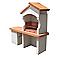 Barbecue en pierre reconstituée Palerme avec hotte