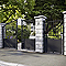 Portillon Jardimat fer Gordes noir - 100 x h.150 cm